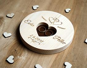 Prstene - Tanierik na obrúčky okrúhly - 9650097_