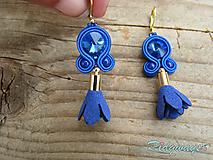 Náušnice - Mini tassels...soutache (Kráľovská modrá/Sapphire) - 9651201_