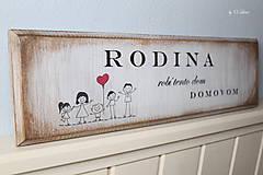 Tabuľky - Rodina robí tento dom domovom - tabuľka s jaseňa - 9649001_