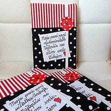 Papiernictvo - Zápisník - Pre pani učiteľku s červeným gombíkom - 9651136_