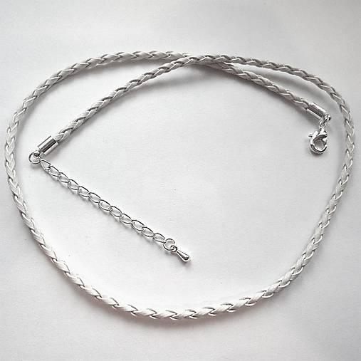 Koženkový náhrdelník 45cm-1ks