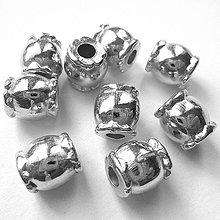 Korálky - Cukrík plast 8,2mm-1ks - 9649333_