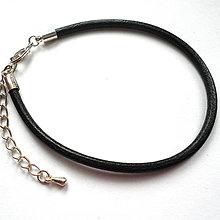 Polotovary - Kožený náramok 20cm-1ks - 9649473_