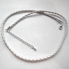 Polotovary - Koženkový náhrdelník 45cm-1ks - 9649544_