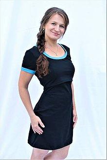 Tehotenské/Na dojčenie - 3v1 dojčiace púzdrové šaty s lemovaním, veľ. L-XXL - 9649100_