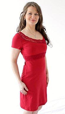 Tehotenské/Na dojčenie - 3v1 dojčiace púzdrové šaty s čipkou, veľ. XS-M - 9649113_