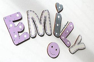 Tabuľky - EMILY meno z dreva na prianie - 9650383_