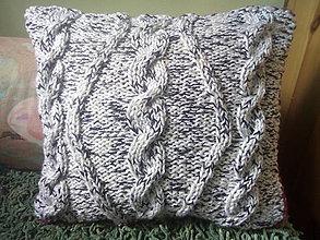 Úžitkový textil - Pletená obliečka na vankúš - 9649842_