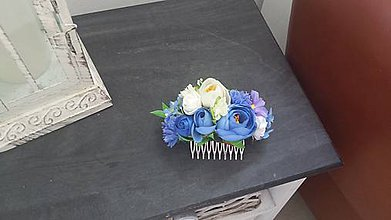 Ozdoby do vlasov - Modrá elegancia - 9649553_