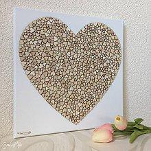 Dekorácie - Srdiečkové srdce bez fotky - 9648674_