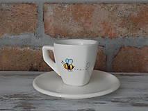Nádoby - Ristretto šálka - Včielka - 9649880_