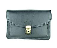 Iné tašky - Moderná kožená etua, viacúčelové púzdro v čiernej farbe - 9650996_