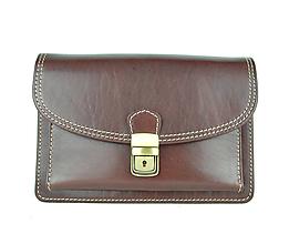Iné tašky - Moderná kožená etua, viacúčelové púzdro v hnedej farbe - 9650930_