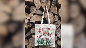 Iné tašky - ♥ Plátená, ručne maľovaná taška ♥ - 9649759_