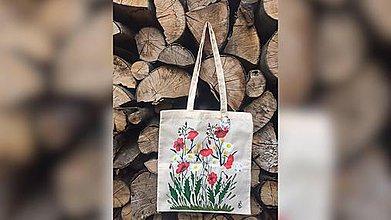Iné tašky - ♥ Plátená, ručne maľovaná taška ♥  (S7) - 9649759_