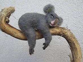 Dekorácie - Koala Bubo - plstená - 9649442_