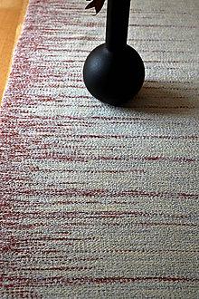 Úžitkový textil - RUČNĚ TKANÝ STREDOVÝ OBRUS - 5 - 9649475_