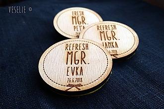 Odznaky/Brošne - Odznak k promóciám . Fresh . personalizovaný s dátumom (pure) - 9650423_