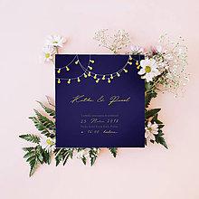 Papiernictvo - Svadobné oznámenie svetielka - 9650153_