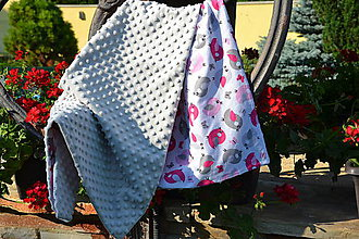 Textil - MINKY s vtáčikmi - 9648701_