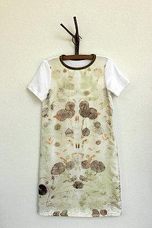 Detské oblečenie - detské eco-print šaty I., veľkosť 128 - 9650284_
