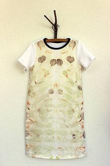 Detské oblečenie - detské eco-print šaty II., veľkosť 128 - 9650363_
