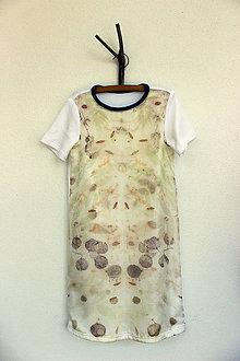 Detské oblečenie - detské eco-print šaty III., veľkosť 128 - 9650391_