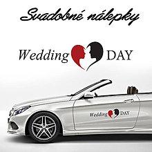 Darčeky pre svadobčanov - Svadobné nálepky na auto 18 - 9649321_