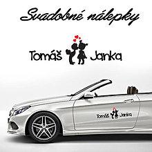 Darčeky pre svadobčanov - Svadobné nálepky na auto 19 - 9649357_