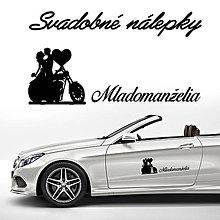 Darčeky pre svadobčanov - Svadobné nálepky na auto 20 - 9649466_