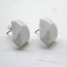 Náušnice - Náušnice biele Krystalix - 9649784_
