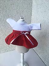 - Tričko a suknička pre bábiky 25-26 cm - 9650162_