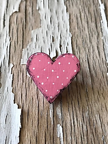 Odznaky/Brošne - bodkovaná brošňa (menšia ružová) - 9649278_