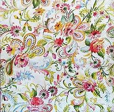 Papier - S1235 - Servítky - gypsy, paisley, india, hippies, ornamenty, kvety - 9652120_