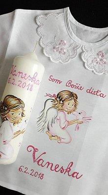 Detské oblečenie - košieľka ku krstu - 9652116_