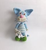 Hračky - VÝPREDAJ - Kocúr s myškou  - 9653353_