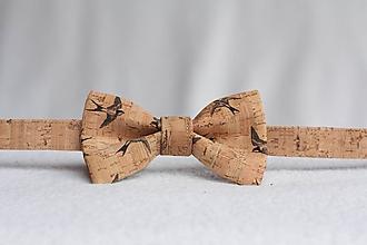 Doplnky - Korkový motýlik unisex lastovičky - 9654877_