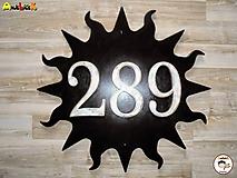 Číslo na dom - slnko