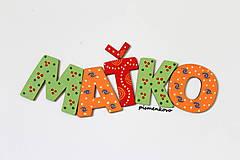 Detské doplnky - MAŤKO ... drevené mená na želanie - 9654001_