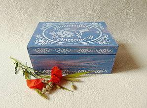 Krabičky - Drevená vintage krabička - 9653173_