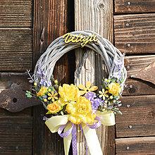 Dekorácie - Venček na dvere Vitajte - 9654817_