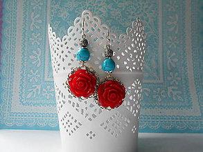 Náušnice - Mexické ruže - 9653446_