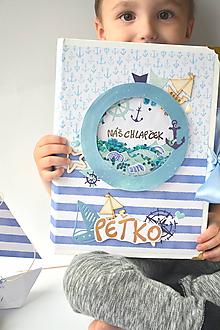 Papiernictvo - Námornícky album pre chlapčeka - 9654779_