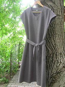 Šaty - Ľanové šaty  - 9654125_