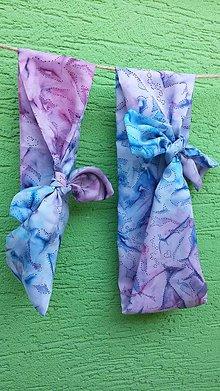 Šatky - Hodvábna šatka do vlasov pre mamičku a dcérku-Violet 2 - 9653882_