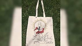 Iné tašky - ♥ Plátená, ručne maľovaná taška ♥ - 9651771_