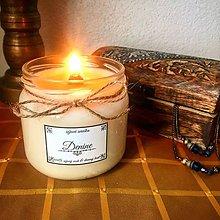 Svietidlá a sviečky - Sójová sviečka s dreveným knôtom (bez vône) - 9654579_