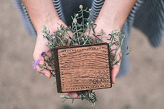 Peňaženky - Dřevěná peněženka - Koi no yokan - 9654160_