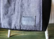 Veľké tašky - Čierna ľanová taška - 9651759_