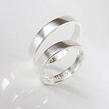 Prstene - Sme párik Moderných klasikov :-) Obrúčky ploché, strieborné - 9654648_